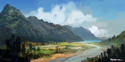 Landscape-sketch03 by FerdinandLadera