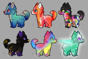 Colorful Pupper Adopt - SALE [6/6 OPEN] 03 by Ulfeid3