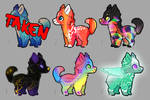Colorful Pupper Adopt - SALE [5/6 OPEN] 03 by Ulfeid3