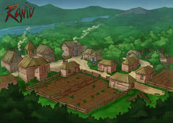 Runic Concept - Environment - Kaboh Village by brohmyr