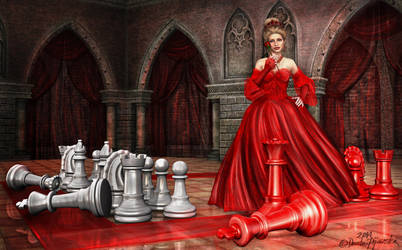 Once Upon A Time In Wonderland - Red Queen by Trisste-stocks