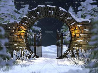 Winter Gate by Trisste-stocks