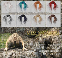 messy casual HAIR STOCK by Trisste-stocks