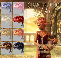 Glamour Updo HAIR STOCK by Trisste-stocks
