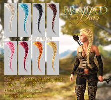 Braided Hair #1 by Trisste-stocks