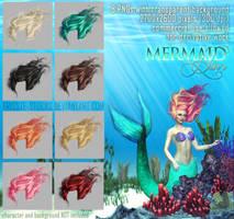 Mermaid HAIR by Trisste-stocks