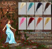 Queen Of Roses HAIR STOCK by Trisste-stocks