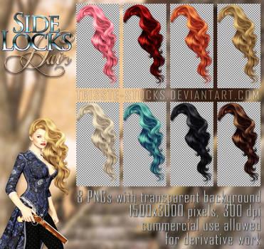 Side Locks HAIR STOCK by Trisste-stocks