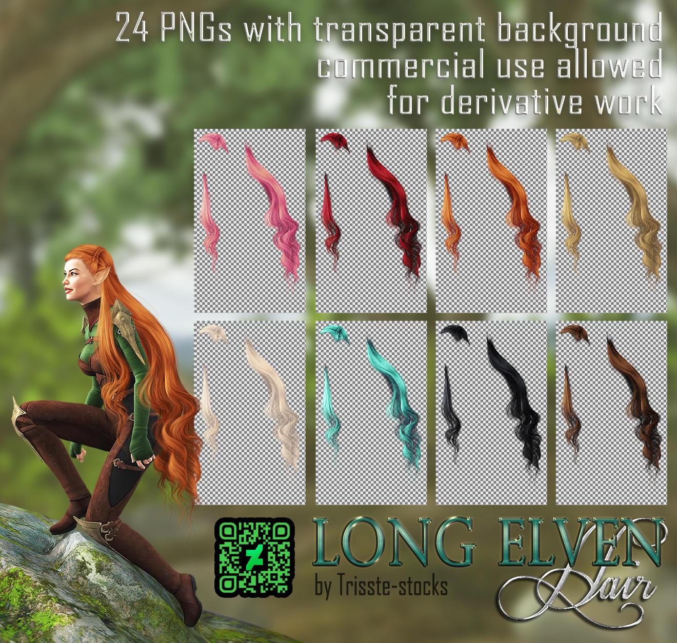 Long Elven HAIR STOCK by Trisste-stocks
