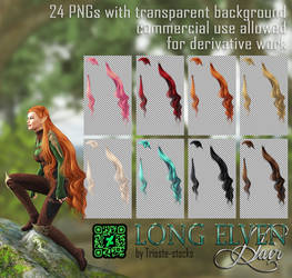 Long Elven HAIR STOCK by Trisste-stocks