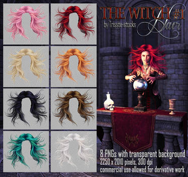 Witch #1 HAIR STOCK by Trisste-stocks