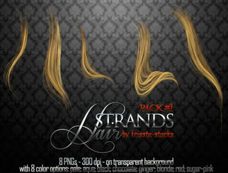 Hair strands pack #1 by Trisste-stocks