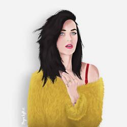 Katy Perry Portrait by Megadyptez