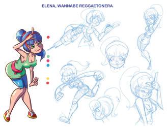 Elena Wannabe reggaetonera by Davalos1
