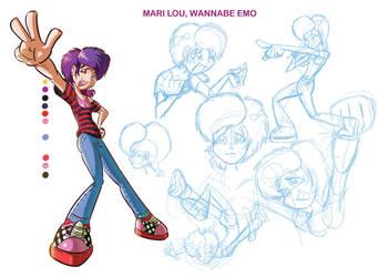 Mari Lou wannabe Emo by Davalos1