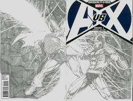 Avengers vs X-men Sketch Variant by Ace-Continuado