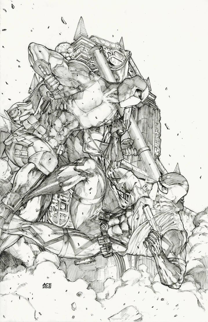Fantomex vs Deadpool by Ace-Continuado