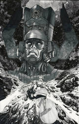 Galactus vs Silver Surfer Commission by Ace-Continuado