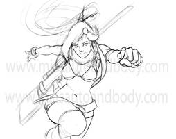 the return of yoko: the sketch by DanHowardArt