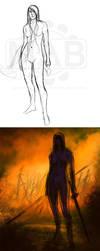 Firedance Process by DanHowardArt