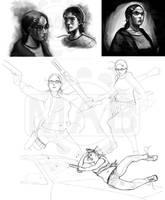 sketchdump XIV by DanHowardArt