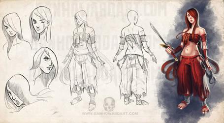 Character Sheet: Bianca by DanHowardArt