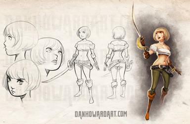 Character Sheet: Jackie by DanHowardArt