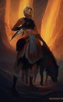 Alpha Dog by DanHowardArt