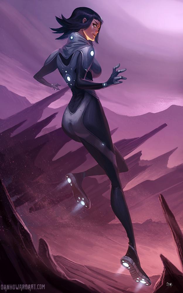 Space Girl by DanHowardArt