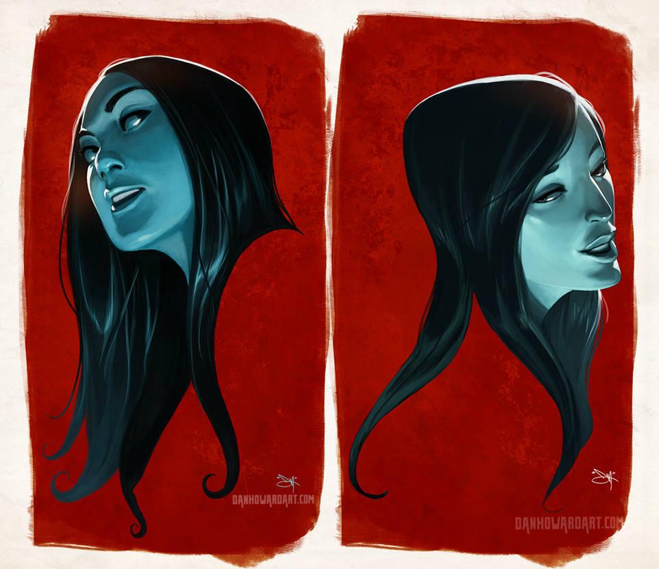 blue red by DanHowardArt