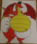 fat daipered American dragon (colored) by revrunner1993