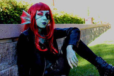 Punk Undyne Cosplay by ConsultingxDetective