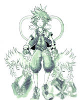 Inktober #2 - Sora, Ventus and Roxas by Marcos-A-Rodrigues