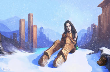 Snowfall by Langoth