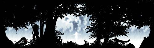 silhouette with bg by Hamfairy