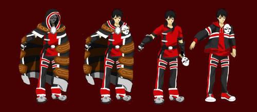 TALES of Familiars OC Character Design art 'SHIKI' by Chidurisasuke
