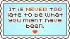 Stamp: Never too Late by Southrobin
