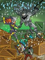 Batman and Batgirl by Granamir30