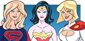 Supergirl Wonder Woman Power Girl by Granamir30