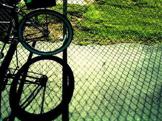 bicycle by airport-hearts