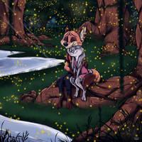 SummerMonth Week #4 Art #6 ~ Fireflies by Ziegelzeig
