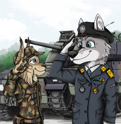 Military Salute by Ziegelzeig