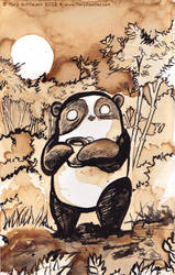 Coffee Panda by MaryDoodles