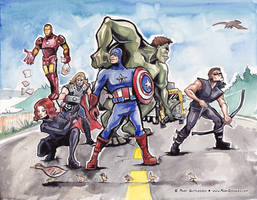 Avengers Fan Art! by MaryDoodles