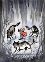 Little Red Wolf Hunter by MaryDoodles