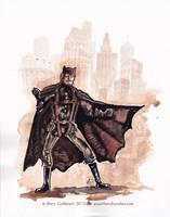 Steampunk Batman by MaryDoodles