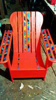 vibrant porch chair  by bigbrandonb