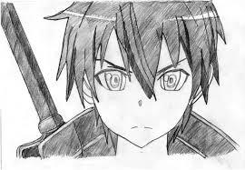 My Kirito drawing from Sword Art Online by ChainAce1204