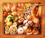 [Mousepad Design] - Sushi Bento by muddymelly