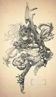 Commish: Gunblade SURGE REDUX by muddymelly
